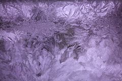 Abstraktions-Eis-Muster-Hintergrund-ultraviolettes Stockbild