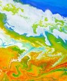 Abstraktionserdplaneten-Flüssigkeitskunst stockfoto