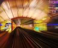 Abstraktionsmetro-U-Bahnbahnunschärfe Stockfoto