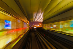 Abstraktionsmetro-U-Bahnbahnunschärfe Lizenzfreies Stockfoto