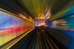 Abstraktionsmetro-U-Bahnbahnunschärfe Lizenzfreie Stockbilder
