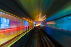 Abstraktionsmetro-U-Bahnbahnunschärfe Stockbild