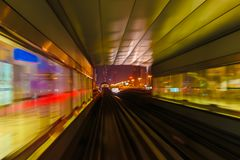Abstraktionsmetro-U-Bahnbahnunschärfe Lizenzfreie Stockfotos