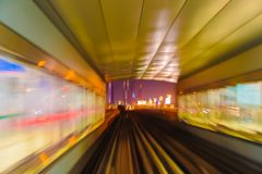 Abstraktionsmetro-U-Bahnbahnunschärfe Lizenzfreie Stockfotografie