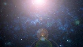 Abstraktionsraumhintergrund für Design Mystisches Licht Stockfoto
