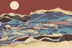 Abstraktny pazazh Natura ilustracja wektor