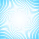 Abstraktnyyj background with lots of white rays against the blue sky. Spiral motion of geometric shapes. stock photos