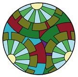 abstraktów okręgów Obrazy Royalty Free