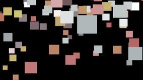 Abstrakty barwiący kwadraty na czarnym tle royalty ilustracja