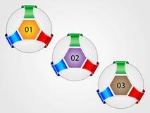 Abstrakty liczący sztandary dla infographics Fotografia Stock