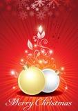 abstrat花卉球圣诞节 库存照片