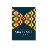 Abstrat style ethnic design temlate, colorful ethno tribal geometric ornament, trendy pattern element for business, logo. Invitation, flyer, poster, banner Stock Photo