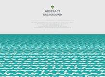 Abstration del fondo de la capa de la agua de mar stock de ilustración