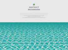 Abstration of sea water layer background. Vector illustration eps10 Stock Image