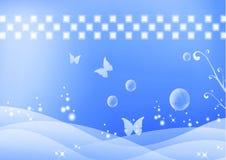 Abstrato-azul Imagens de Stock Royalty Free