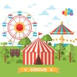 tenda de circo clássico abstrato. ilustração royalty free