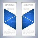 Abstrato role acima a bandeira para a apresentação e a publicação Moldes da ciência, da tecnologia e do negócio Linear quadrado Imagens de Stock Royalty Free