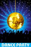 Abstrcat disco party background, illustration Stock Photo