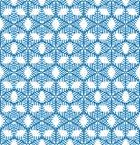 Abstrcat geometric texture Snow crystal seamless pattern Winter Stock Image
