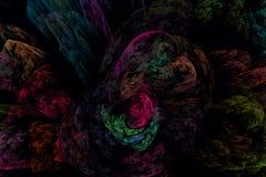 Abstrct数字式艺术品 意想不到的夜山风景,上面 向量例证