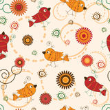 Abstrct background with birds Stock Photos