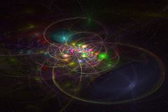 Abstrct Background. Digital Art. Technologies of fractal graphic. Abstrct Digital Artwork. The theme of the cosmos and the universe. A distant galaxy against the Vector Illustration