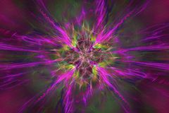 Abstrct Background. Digital Art. Technologies of fractal graphic. Abstrct Digital Artwork. The theme of the cosmos and the universe. Supernova explosion Vector Illustration