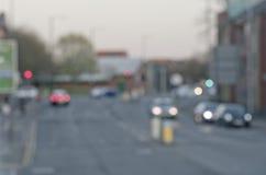 Abstrct-blure auf der Straße mit Autos in Manchester Großbritannien England Stockbilder