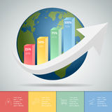 Abstrct business infographic template Royalty Free Stock Image