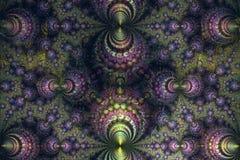 Abstrct Digitaal Kunstwerk Technologieën van fractal grafiek vector illustratie