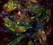 Abstrct Digitaal Kunstwerk Technologieën van fractal grafiek royalty-vrije illustratie