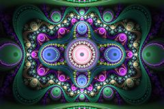 Abstrct Digital Artwork. Beautiful concentric symmetrical patter. N. Technologies of fractal graphics Vector Illustration