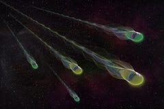 Abstrct Digital Artwork. Meteor shower on the background of the. Abstrct Digital Artwork. The theme of the cosmos and the universe. Meteor shower on the Vector Illustration