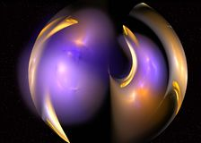 Abstrct Background. Digital Art. Technologies of fractal graphic. Abstrct Digital Artwork. The theme of the cosmos and the universe. A planet made of plasma Royalty Free Illustration