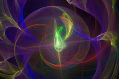 Abstrct Background. Digital Art. Technologies of fractal graphic. Abstrct Digital Artwork. The theme of the cosmos and the universe. Supernova explosion with Stock Illustration