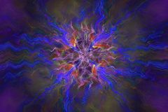Abstrct Background. Digital Art. Technologies of fractal graphic. Abstrct Digital Artwork. The theme of the cosmos and the universe. Supernova explosion Stock Illustration
