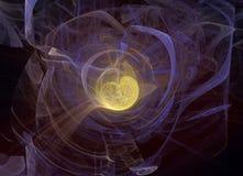 Abstrct Digital grafika Technologie fractal grafika royalty ilustracja