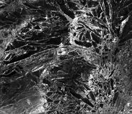 Abstrct Ice Texture Background. Black and White close up of an ice design stock photography