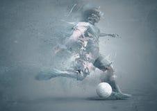 Abstrct soccer player Stock Photos