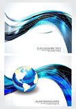 Abstrct Wave Background Set Stock Images
