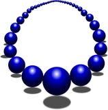 Abstrectillustratie van blauwe geplaatste ballen die omhoog een aardige halsband maakt vector illustratie