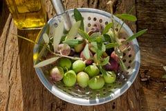 Abstreicheisen mit Olive lizenzfreies stockbild
