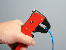 Abstreifender elektrischer Draht Lizenzfreies Stockbild