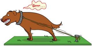 Abstreifenhund beißen nie stock abbildung