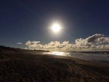 Abstreifensand-Strand am Polihale-Nationalpark auf Kauai-Insel Stockbild