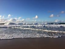 Abstreifensand-Strand am Polihale-Nationalpark auf Kauai-Insel Lizenzfreies Stockbild