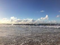 Abstreifensand-Strand am Polihale-Nationalpark auf Kauai-Insel Lizenzfreie Stockbilder