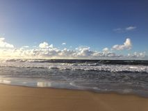 Abstreifensand-Strand am Polihale-Nationalpark auf Kauai-Insel, Hawaii Stockfotos