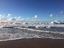 Abstreifensand-Strand am Polihale-Nationalpark auf Kauai-Insel, Hawaii Stockfoto