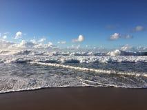 Abstreifensand-Strand am Polihale-Nationalpark auf Kauai-Insel, Hawaii Lizenzfreies Stockfoto